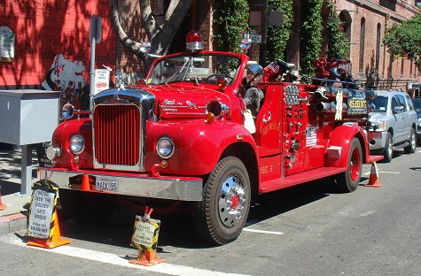Old fire engine in San Francisco