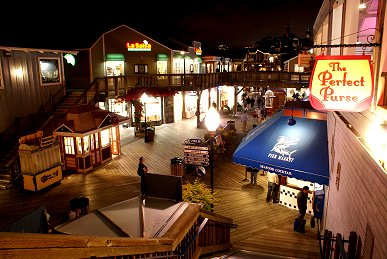 Pier 39 at night