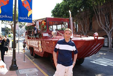 me and the quackers vehicle in San Francisco