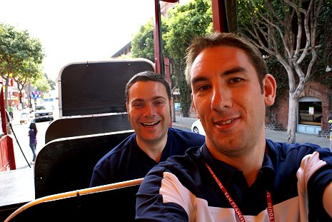 me and Mark in San Francisco