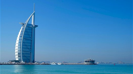 The only 5 star hotel in the worl the Burj Al Arab