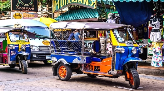 Tuk Tuk vehicles in Bangkok