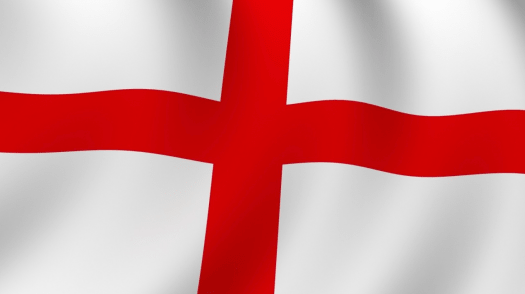 The St. Georges cross flag