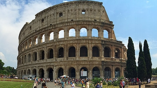 The impressive Colosseum in Rome