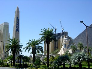 the spynx at the Luxor hotel in Las Vegas