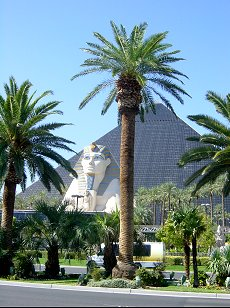 the pyramid at the Luxor hotel in Las vegas
