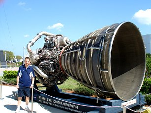 big rocket engine at kennedy space center