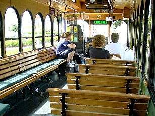 Inside the I-Ride Trolley in Florida